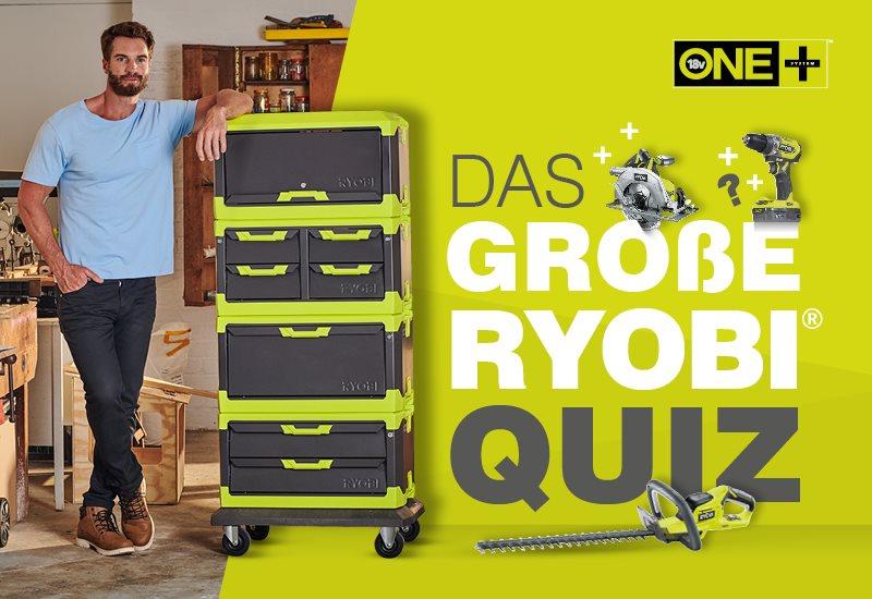 Gewinnen Sie einen RYOBI Werkstattwagen im Wert von 350,00 €!