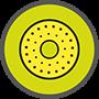 Använd polermedel och den gula polersvampen