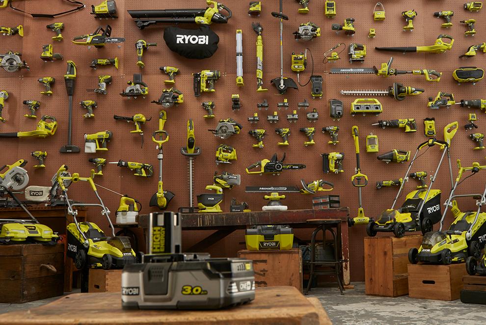 Ett batteri passar alla verktyg