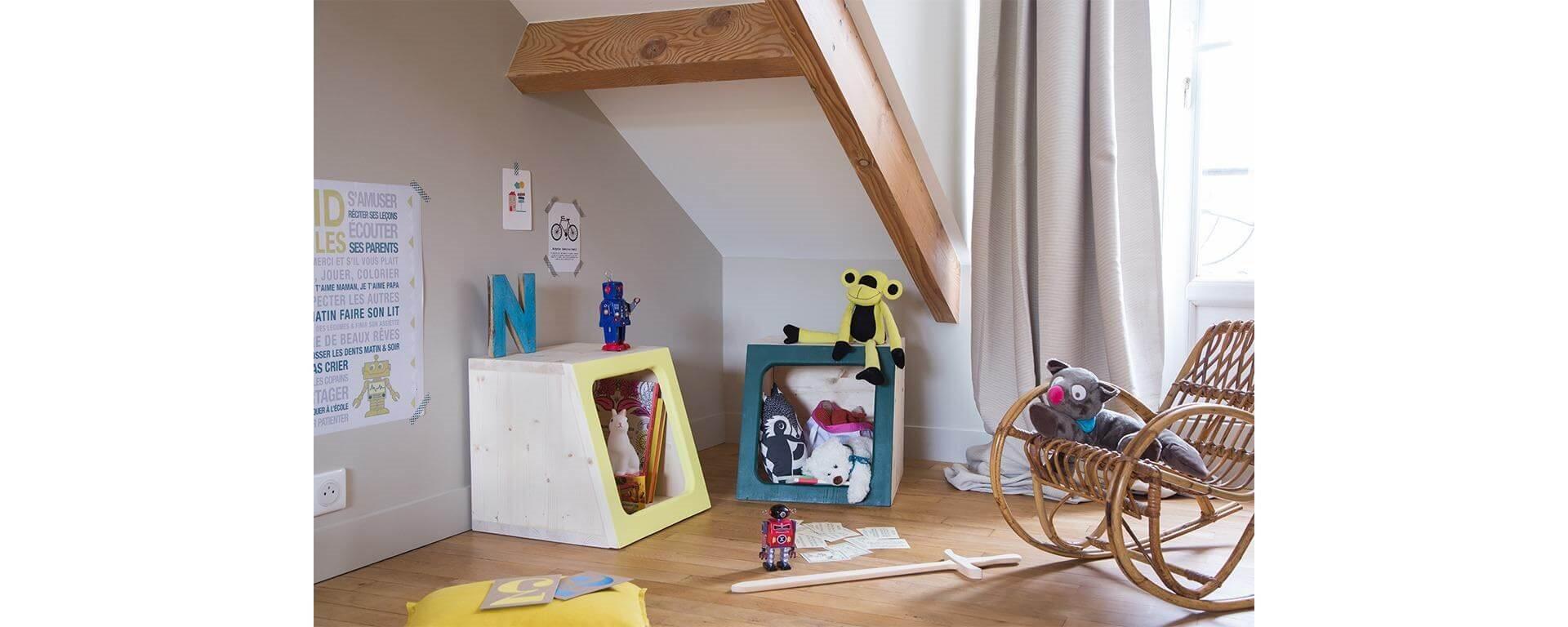 Fabriquer une caisse de rangement pour enfant, tutoriel