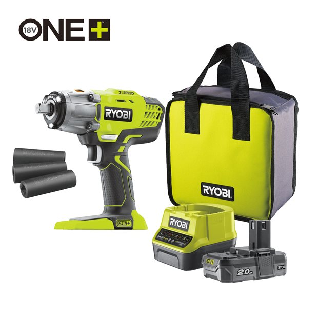 R18IW3-120S 18V Cordless 3-Speed Impact Wrench